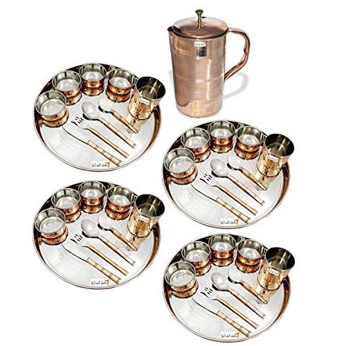 dinnerware traditional stainless steel copper