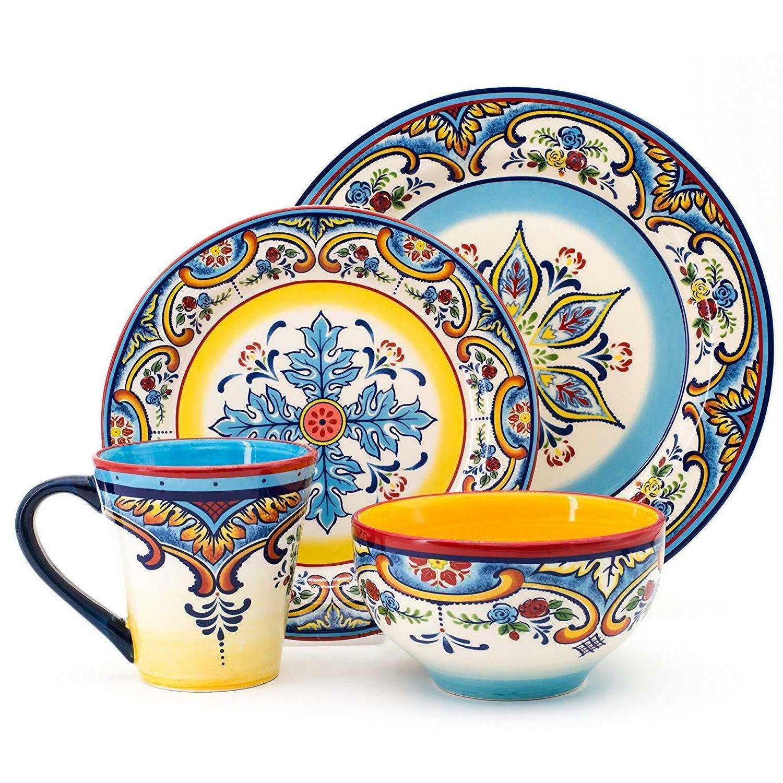 Earthenware Dinnerware Mexican Multicolor 16Pcs