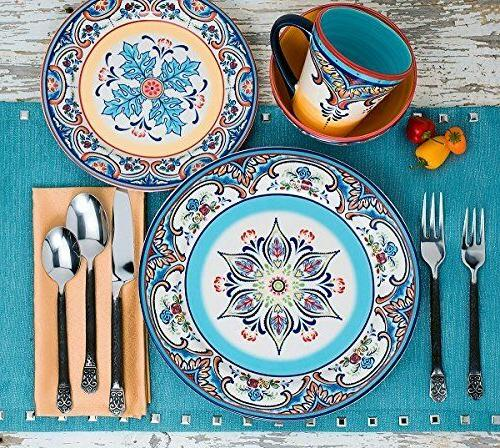 Earthenware Dishes Dinnerware Mexican 16Pcs Ceramic