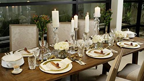 Set, Gold for Guests, 44 Pieces for holidays, showers, and entertaining!