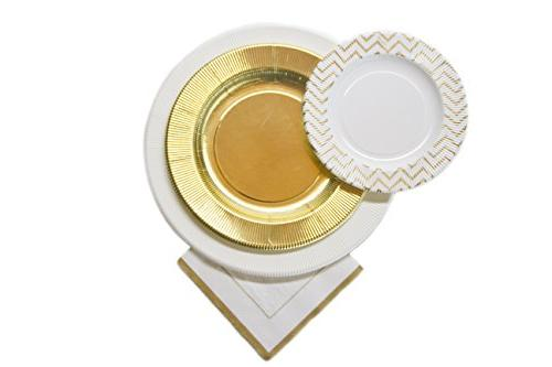 disposable paper plate set plates