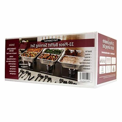 Disposable 33 Piece Party Serving Kits and