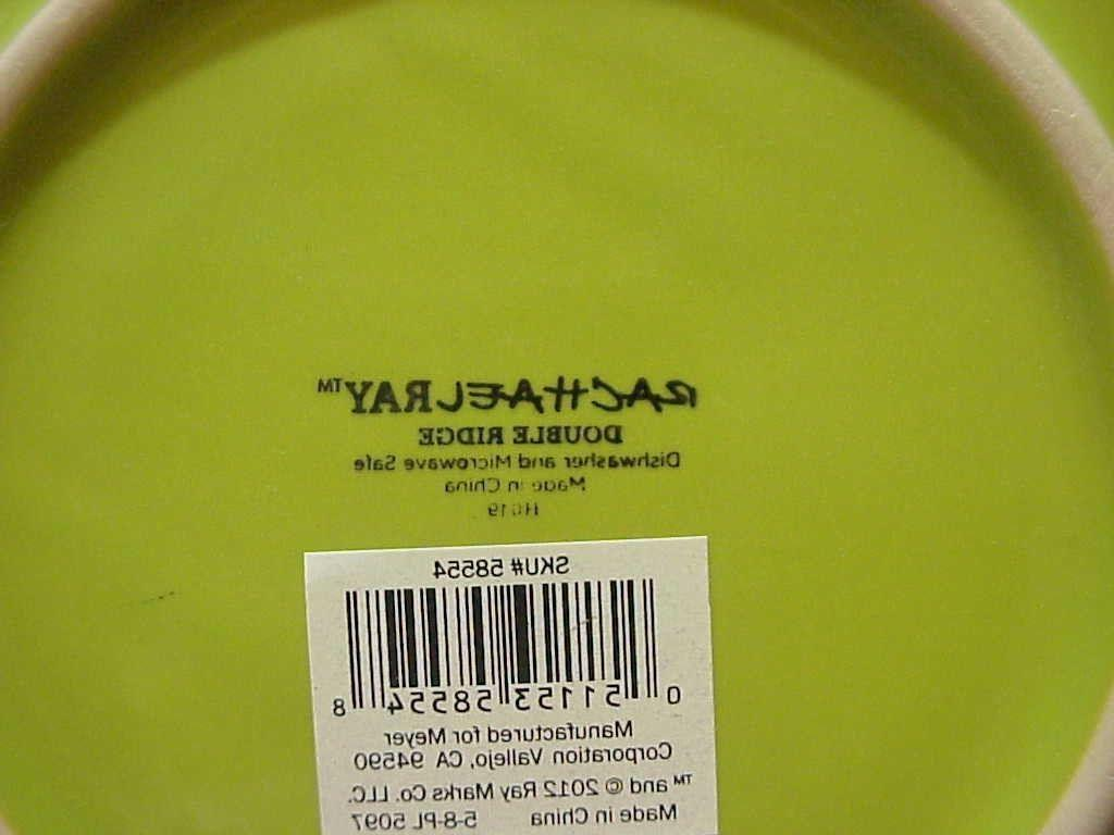 Rachael Ray GREEN APPLE of 4 Dinner Plates 11""