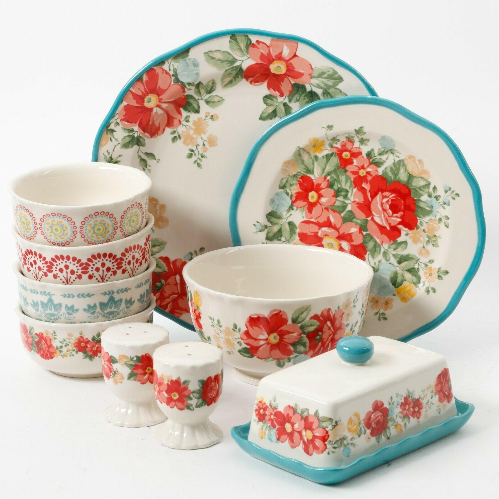 elegant 20 piece dinnerware set plates ceramic
