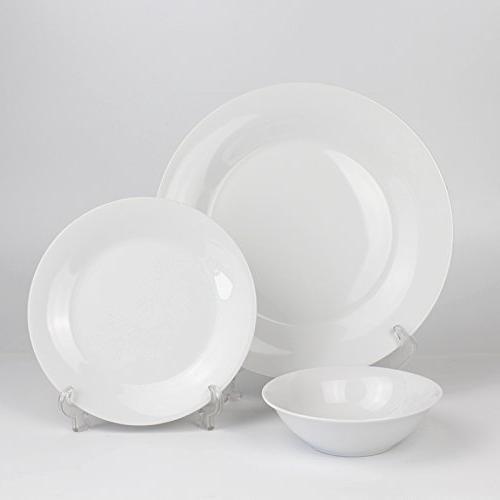 Winnsoma 18-Piece Porcelain Dinnerware Set, For 6. Set With 6 Plates 6