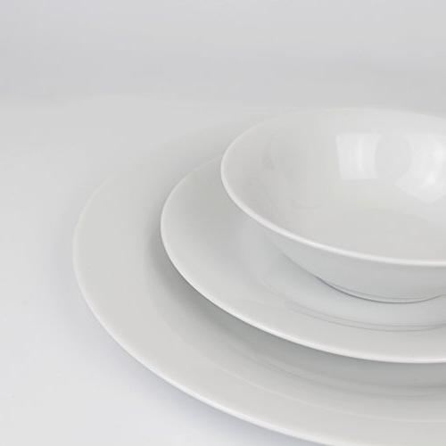 Winnsoma Elegante White Porcelain Dinnerware For With Dinner 6 Side 6 Small