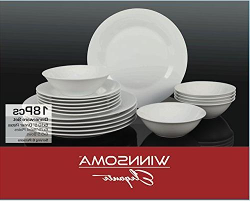 elegante white porcelain dinnerware set