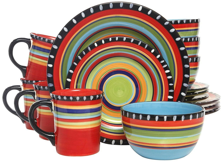 elite pueblo springs 16 piece dinnerware set