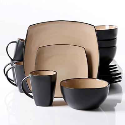set of 16 ceramic dinner plates bowls
