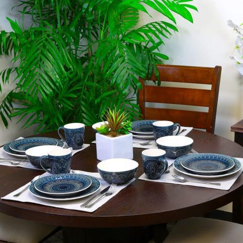 Elama Petra Piece Dinnerware Set,