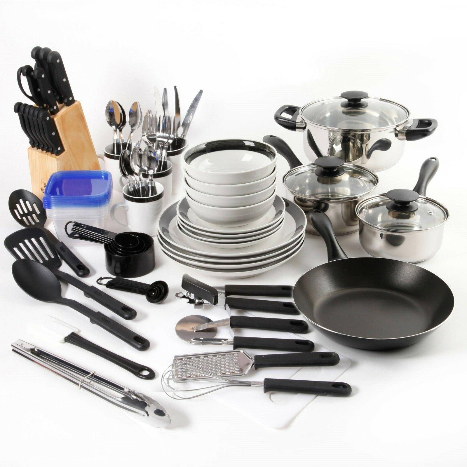 essential total kitchen 83 piece combo set