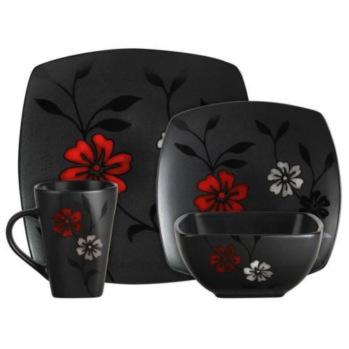 Evening Black Stoneware Dinnerware