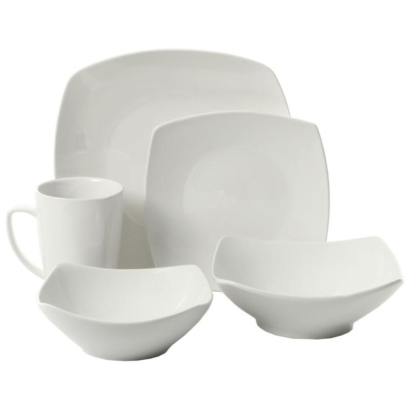 everyday square expanded 40 piece dinnerware set