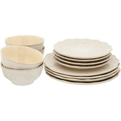 The Lace Dinnerware Set In Colors