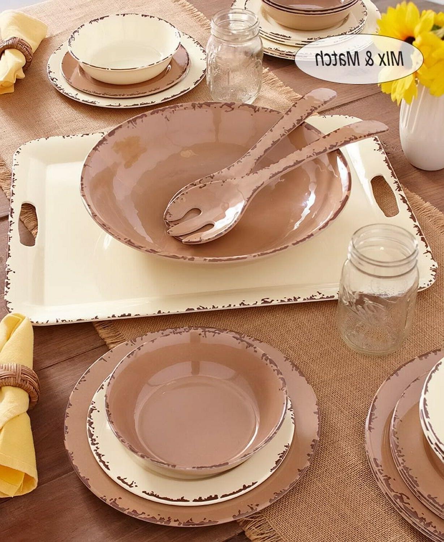 Farmhouse Solid Melamine Dinnerware Plates