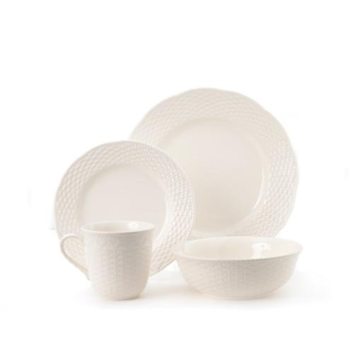 Red Vanilla FC900-016 Nantucket 16-Piece Dinnerware Set, Whi