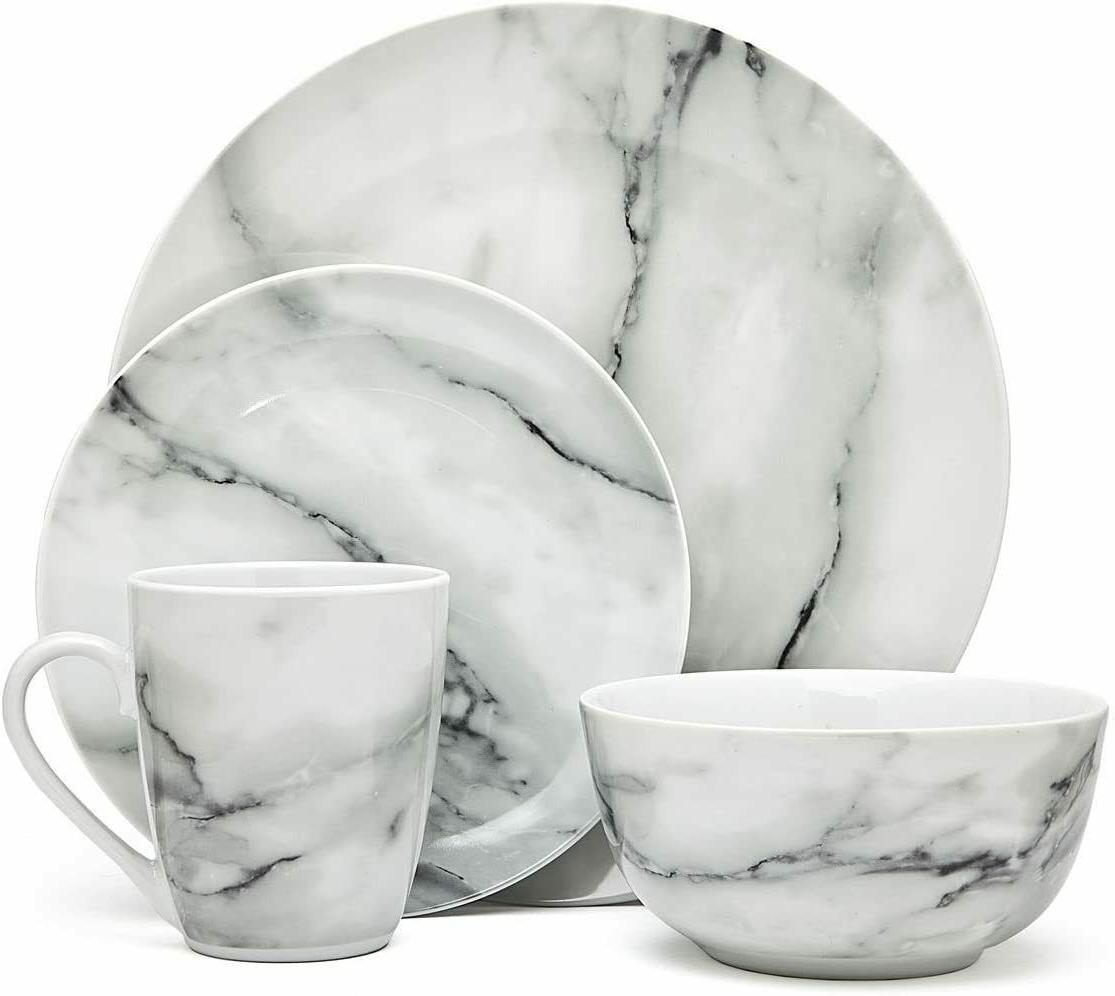 fine round gloss dinnerware dish set 16