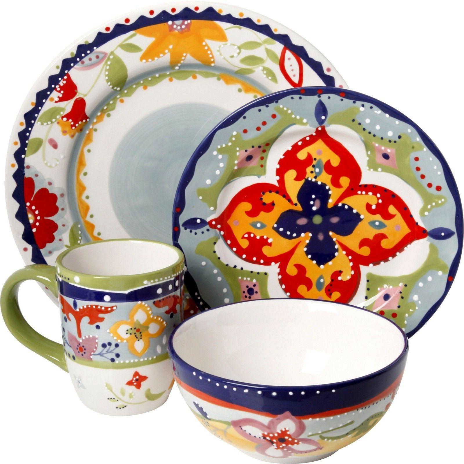 fiore olivetti ceramic dinnerware dinner set abstract
