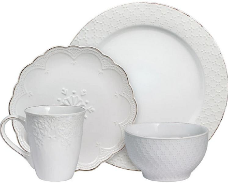 french lace white dinnerware set