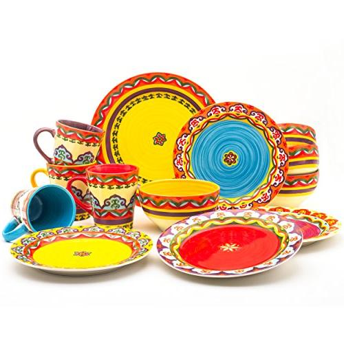 Andalusian-Inspired Dinnerware Patterns, Multicolor