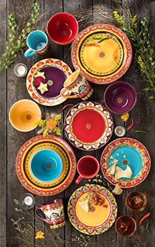 Andalusian-Inspired 16 Piece Dinnerware Patterns,