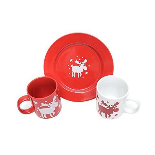 germany christmas mug plate dishware