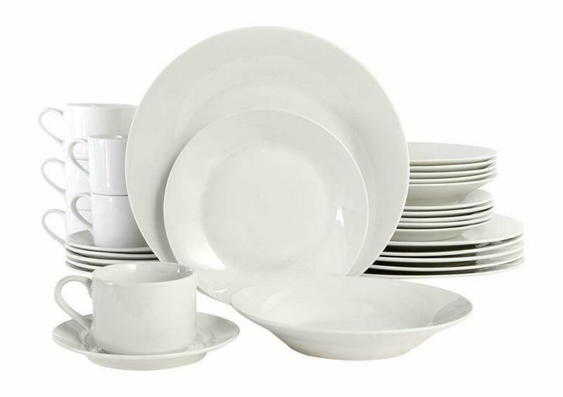 Gibson Home 100086.30Rm Rosendal 30 Piece Round Dinnerware S