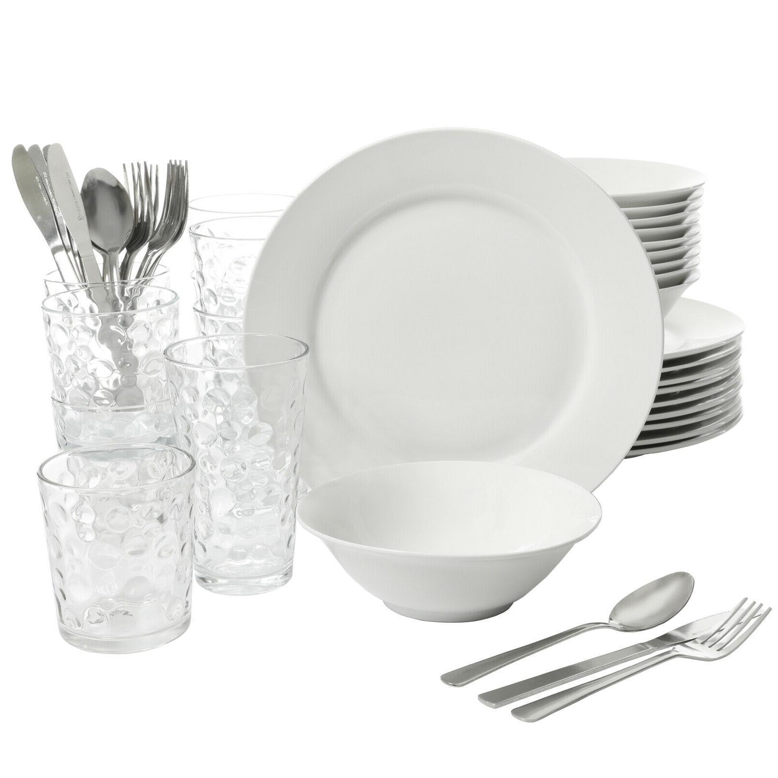 Kitchen Basic Essentials Set 48-Piece Dishwasher Safe