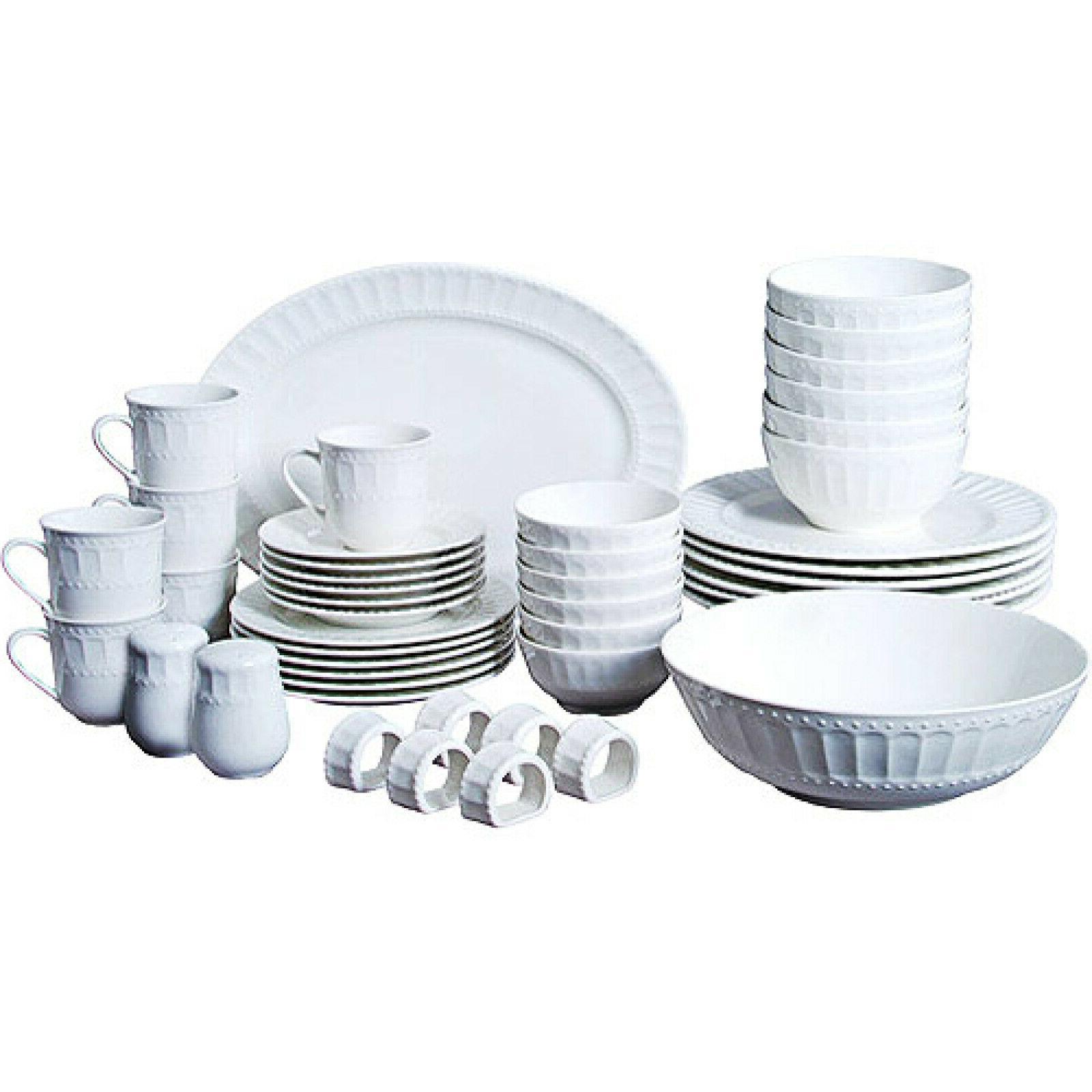 gibson home regalia 46 piece dinnerware