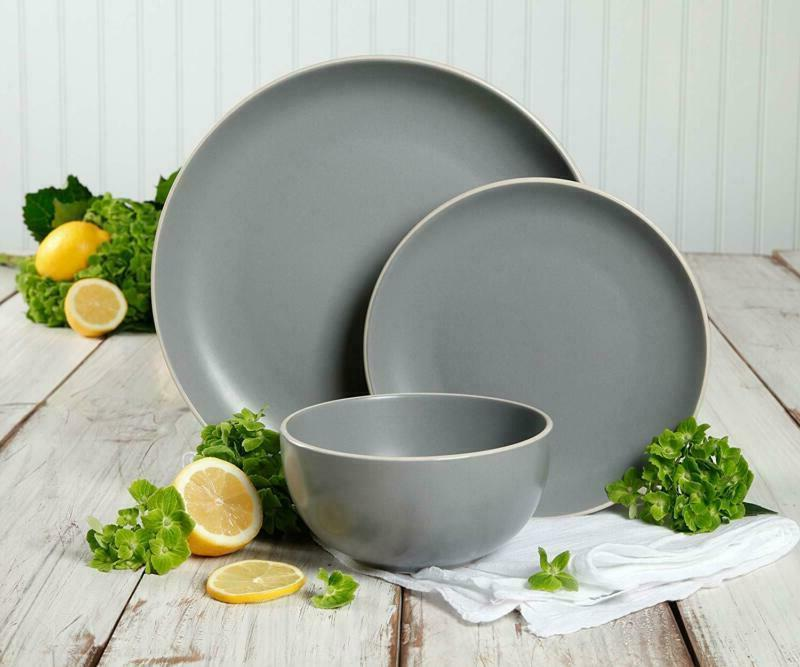 Gibson Home Dinnerware Set Service For 4, Matte