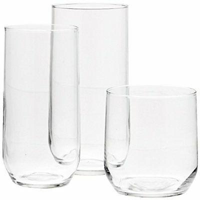 AmazonBasics 18-Piece Glassware