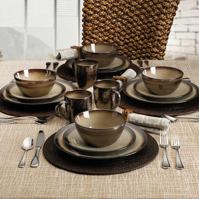 Gourmet Stoneware by Mikasa, 16-piece BROWN Dinnerware