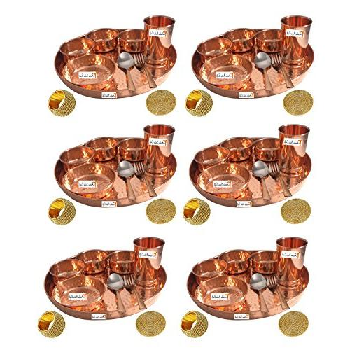 handmade indian dinnerware copper thali