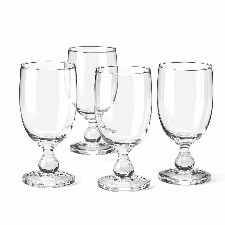 hannah goblet set of 4 clear