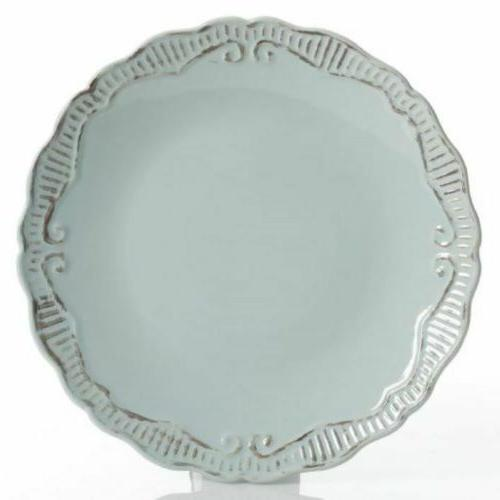 Gibson 16-Piece Dinnerware Set with Service for 4 Stoneware Blue