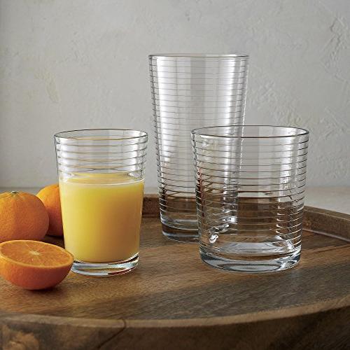 Set of Base Drinking Glasses Includes Glasses Glasses, Elegant Set