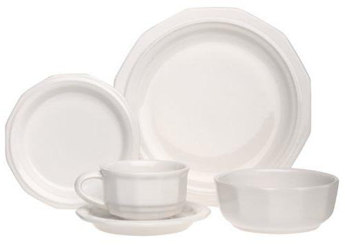 heritage 5 piece dinnerware set new