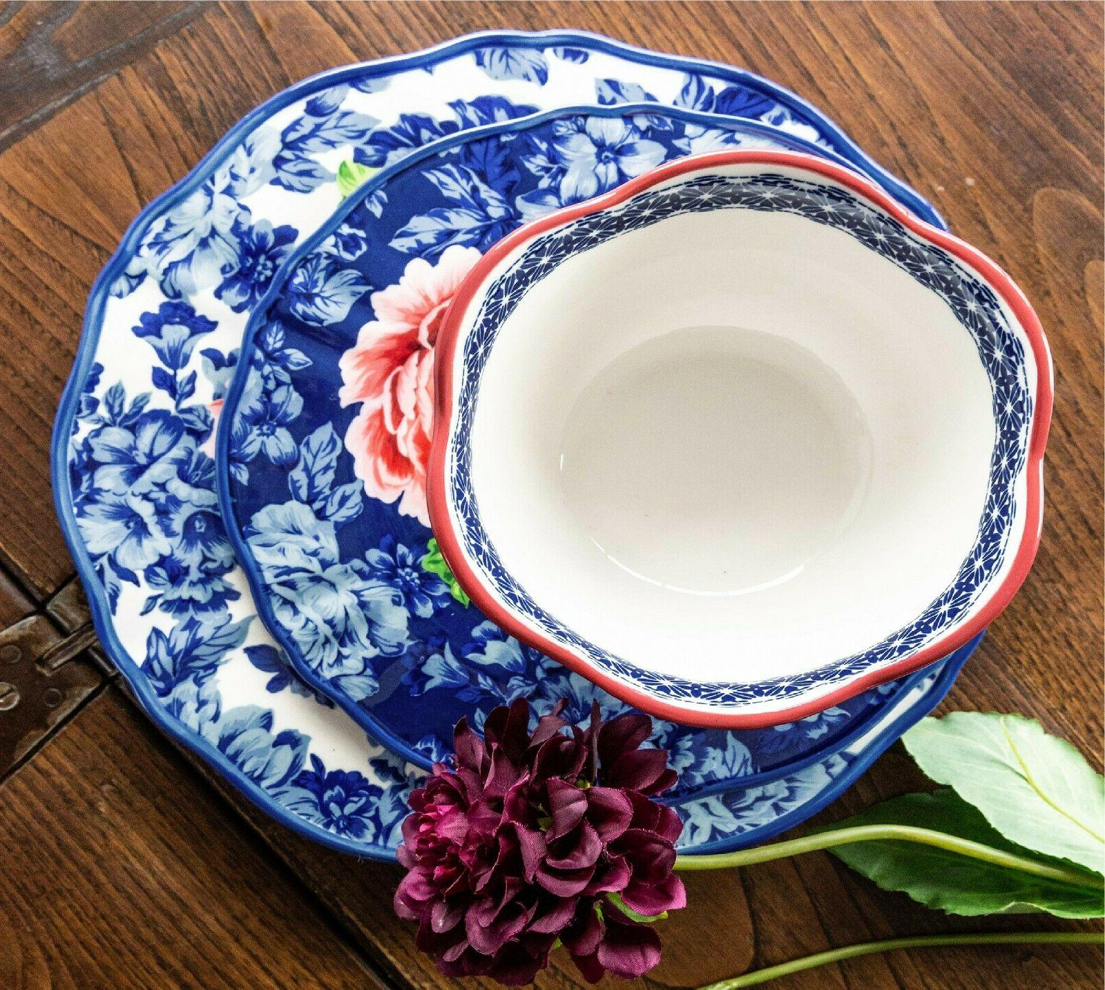 The Pioneer Floral 12-Piece Dinnerware Set