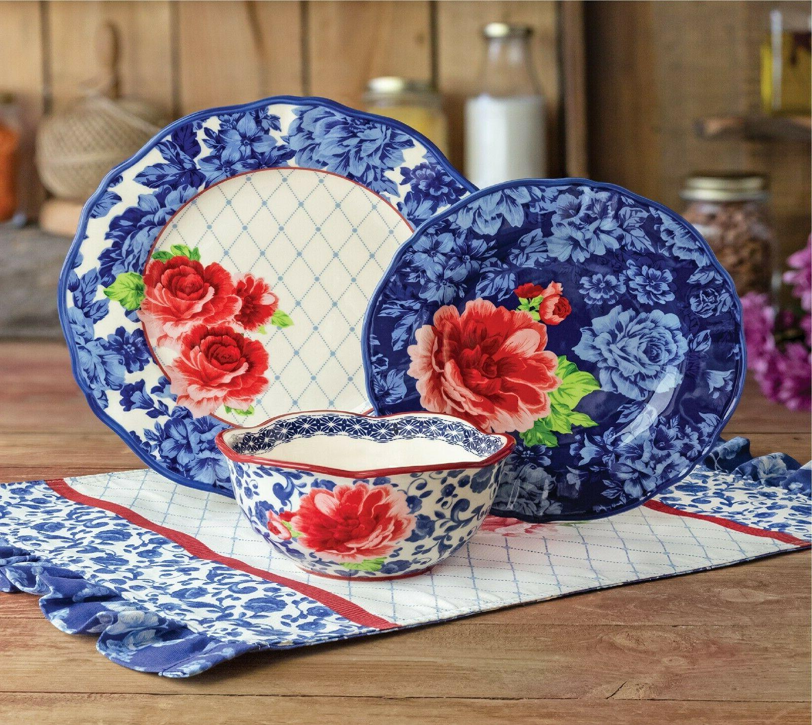 The Woman Floral Blue Dishwasher