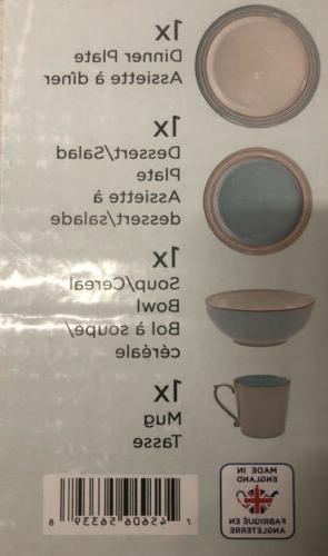 Denby Heritage Pavilion Pc Place Setting Set Service One NWT