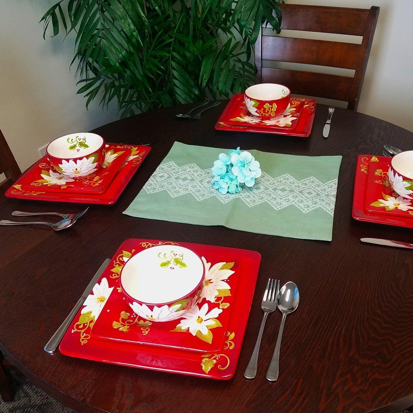 Christmas Dinnerware Service Decorated