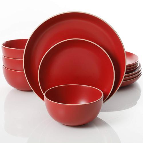 home 114386 12rm rockaway 12 piece dinnerware