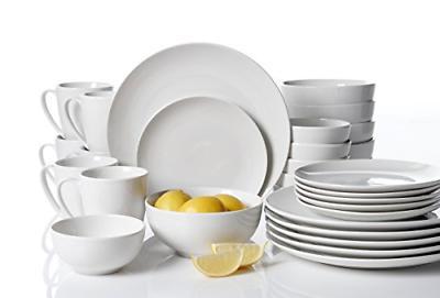 30 Piece Dinnerware White