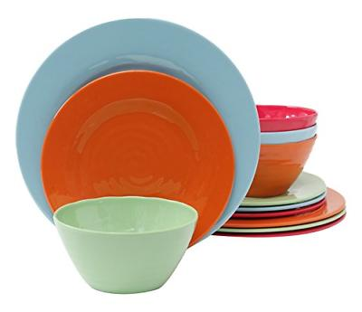 home brist 12 piece melamine dinnerware set
