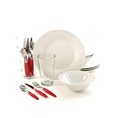 home delightful dining 24 piece dinnerware set