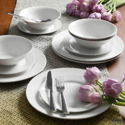 Gibson Home Everyday Round 12-Piece Dinnerware Set - White