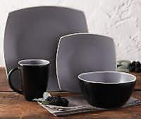 home gray soho 16 piece dinnerware set