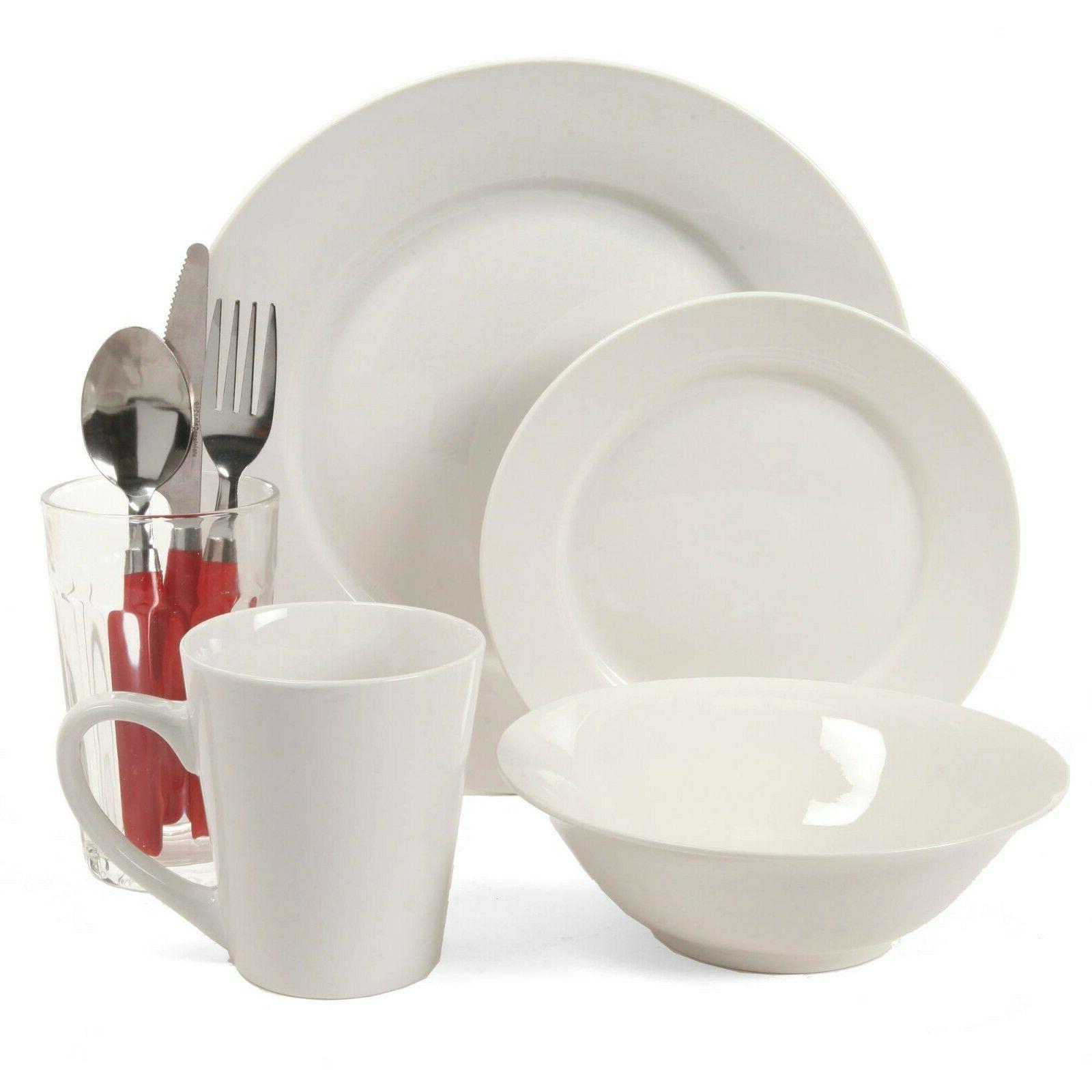 Gibson Home White II 32-Piece Dinnerware Set, White