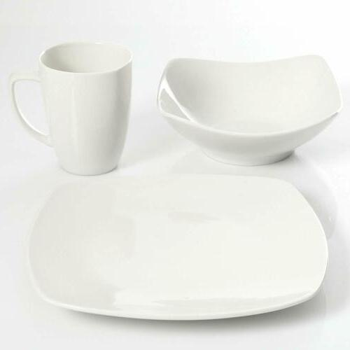 12 Dinnerware Service for 4, White