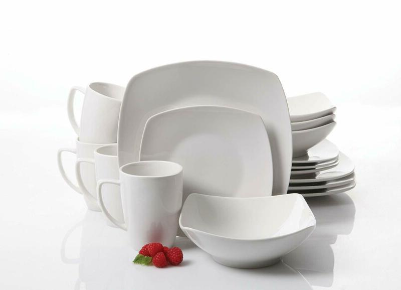 Gibson 16 Piece Dinnerware White